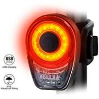 Bicycle Taillights VELLAA Rear Bike Lights USB Rechargeable – Bike Tail Light Powerful 6 Setting, LED Bicycle Rear Light Red Taillight Back Easily Clip On for Cycling Safety IPX8 Waterproof 360° Rotatable