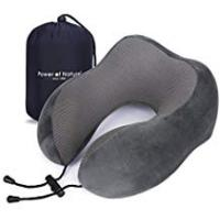 Pillows For Side Sleepings Pon Travel Pillow Luxury Memory Foam Neck & Head Support Pillow Soft Sleeping Rest Cushion for Airplane Car & Home Best Gift