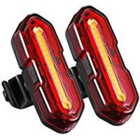 Bicycle Taillights TOPELEK USB Rechargeable Bike Rear Light【2 Packs】Powerful LED Bike Tail Lights with 5 Light Modes and 2 USB cables, Headlight Taillight Combinations for Cycling Safety Flashlight Helmet Mountain Bike