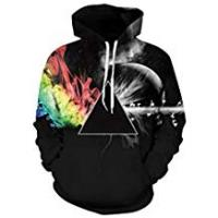 Couples Apparel Friend Hoodies For Girls Leapparel Unisex Colourful 3D Pullover Hoodie Sweatshirt for Men and Women with Big Pocket Cool Graphic Prints