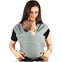 Baby Slings Baby Carrier Slings Infant Wrap - Premium Cotton Original Multiple Positions Soft and Lightweight Sling for Newborn Infants from Birth Natural Grey