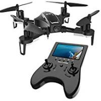 Long Range Drone Holy Stone HS230 RC Racing FPV Drone with 120° FOV 720P HD Camera Live Video 45Km/h High Speed Wind Resistance Quadcopter with 5.8G LCD Screen Real Time Transmitter Includes Bonus Battery