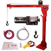 Electric Hoists Rhino Winch Portable 12v Electric Crane Hoist, Deer Lift 3000lb over 1 Ton Lift