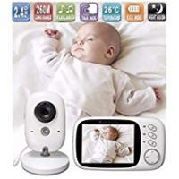 Speaker Cases With Rechargeables Lullaby Bay - Wireless Digital Video Baby Monitor with Camera. Anti-Hack Encryption. 3. 2 inch LCD Screen. Night Vision. Temperature Sensor. 2-Way Talk. Long Range. 8 Lullabies. Wall-mountable Camera