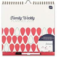 Calendar Boxclever Press 2019 Family Weekly Planner Calendar. Week-to-View Family Organiser with 6 Columns for People with Busy Lives. Starts Now, Runs 'til December 2019