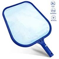 Pool Skimmers Buluri Professional Pool Skimmer, Heavy Duty Leaf Skimmer- Fine Mesh Net - Sturdy Frame - Suitable for Spas,Swimming Pool, Hot Tubs,Fountain,Fish Tank ect. - For Cleaning Pool Leaves and Debris (1)