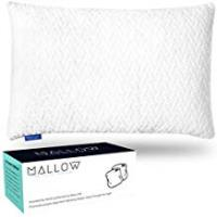 Pillows For Side Sleepings Luxury Shredded Memory Foam Bamboo Pillows   Orthopedic Migraine, Neck and Shoulder Pain Relief   Adjustable Support   Hypoallergenic Washable Natural Bamboo Cover   Best Pillow for Side, Back, Stomach Sleeping