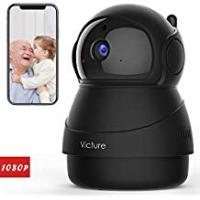 Consumer Video Cameras Victure 1080P FHD WiFi IP Camera Indoor Wireless Security Camera With Motion Detection Night Vision Home Surveillance Monitor with 2-Way Audio for Baby/Pet/Elder