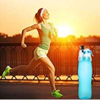 Contigo Yoga Water Bottles Protable Sports Water Bottle With Straw Drink Spray Cup Climbing Hiking Cycling for School Home Office Travel Sport Yoga Gym Hot Cold Drinks