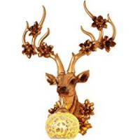 Universal Lighting And Decor Fans Deer Head Wall Lamp European Creative Living Room Bedroom Bedside Aisle Background Personality Retro Antler Light Fixture