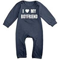 Customized Girl Friend Underwears I Love My Boyfriends Long Sleeve Baby Romper Bodysuit Outfits Clothes