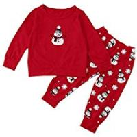 4m Toys For 7 Year Boys Baby Clothes Set,Newborn Baby Girls Boys Christmas T-Shirt Tops+Pants Outfits Set by LuckUK